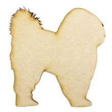 Shih Tzu Design 1 Craft Blank, Dog Shape Laser Cut from 3mm MDF, Card Topper